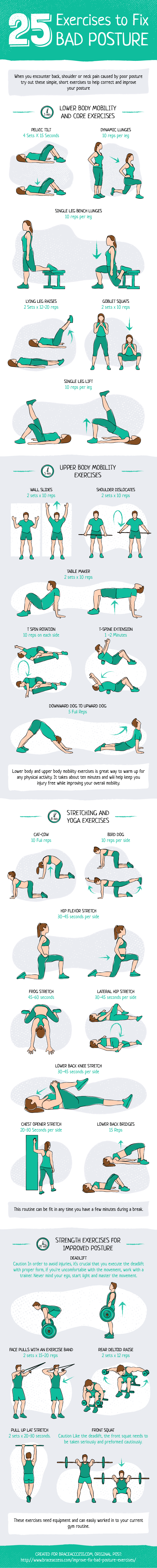 25 Exercises for Flexibility Infographic