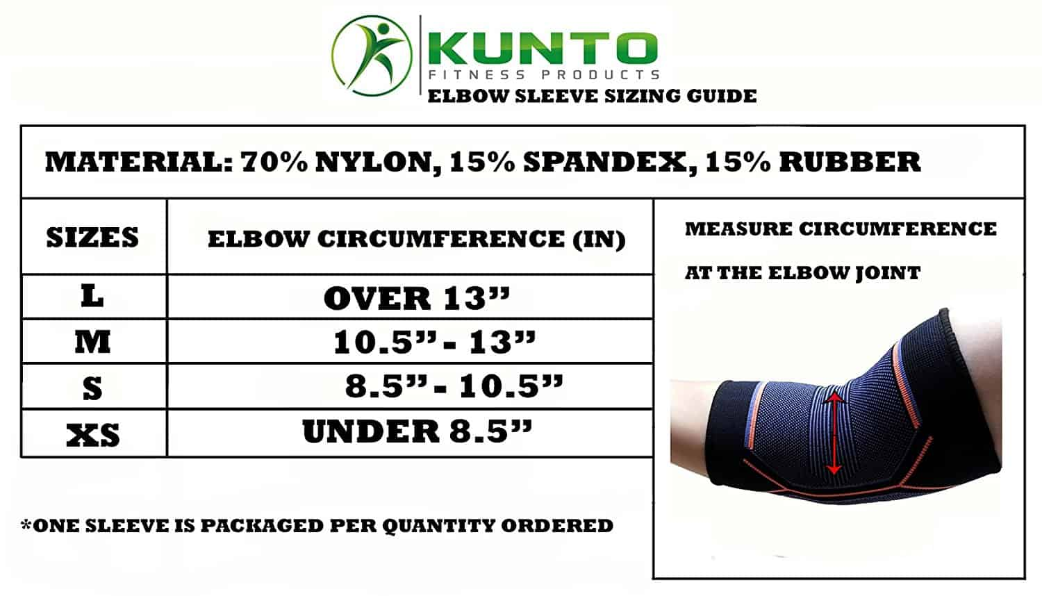 Sizing Chart Compression Sleeve