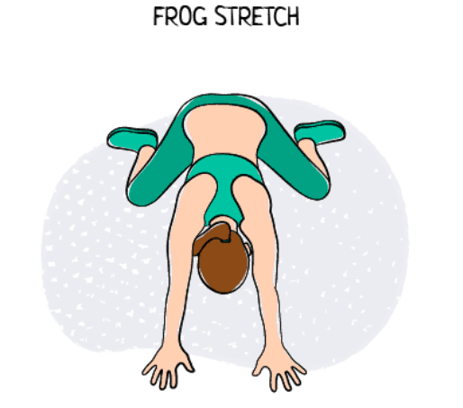 Frog : Goalie Stretch Exercise Illustration